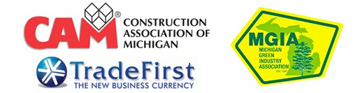 Michigan logos-Trade First-Construction Association-Michigan Green Industry